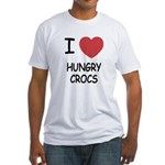 I heart hungry crocs Fitted T-Shirt