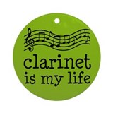 Clarinet Music Notes Ornament