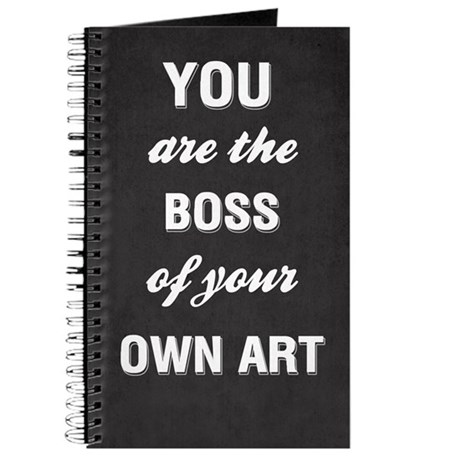 You Are The Boss Of Your Own Art Notebook
