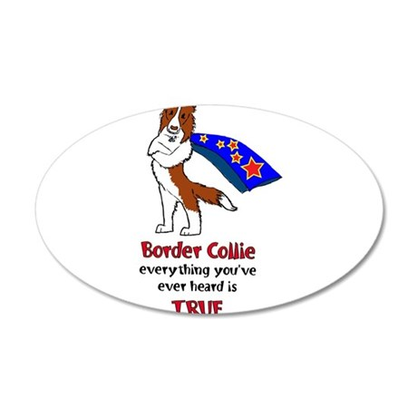 Super Border Collie - everyth 38.5 x 24.5 Oval Wal