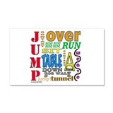 Agility Commands Car Magnet 20 x 12