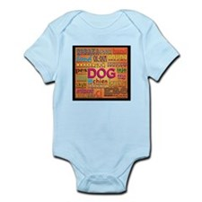 DOG in every language Infant Bodysuit