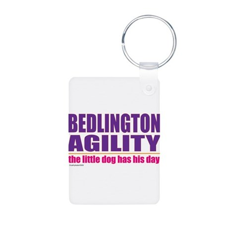 Bedlington Terrier Agility Aluminum Photo Keychain