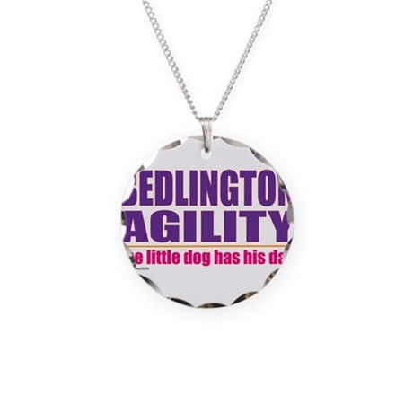 Bedlington Terrier Agility Necklace Circle Charm