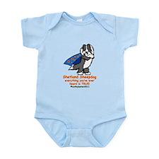 Black Super Sheltie Infant Bodysuit