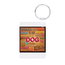 DOG in every language Keychains