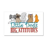 Big Attitudes Car Magnet 20 x 12