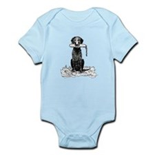 Curly-Coated Retriever with B Infant Bodysuit