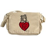 Border Collie (blue merle) Lo Messenger Bag