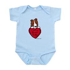 Border Collie (red) Love Infant Bodysuit