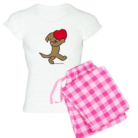 Lab (Chocolate) Heart Women's Light Pajamas