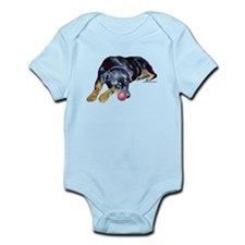 Rottweiller with Ball Infant Bodysuit