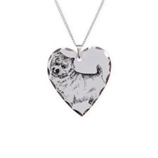Norwich Terrier Necklace Heart Charm