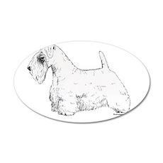 Sealyham Terrier 22x14 Oval Wall Peel