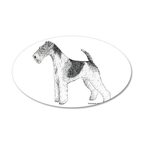 Wire Fox Terrier 22x14 Oval Wall Peel