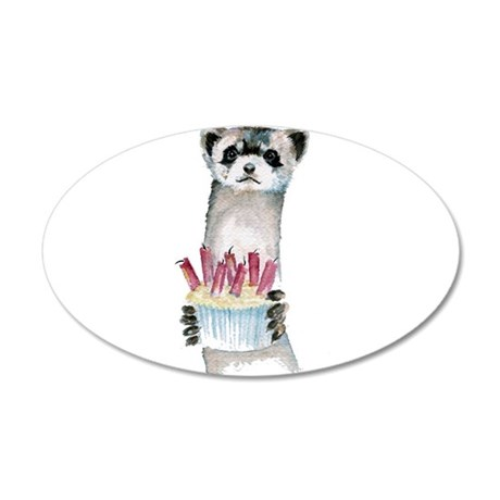 Birthday Ferret 22x14 Oval Wall Peel
