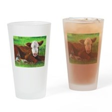 Calf Drinking Glass