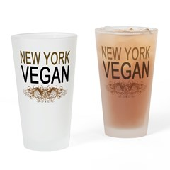 New York Vegan Drinking Glass