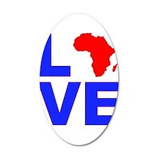 Love Africa 22x14 Oval Wall Peel
