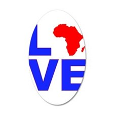 Love Africa 38.5 x 24.5 Oval Wall Peel
