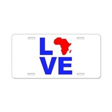 Love Africa Aluminum License Plate