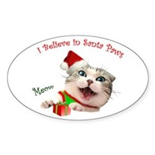 I Believe in Santa Paws Decal