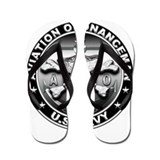 USN Aviation Ordnanceman Skul Flip Flops