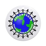 Volunteers Make the World Go Ornament (Round)