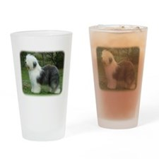 Old English Sheepdog 9F054D-18 Drinking Glass