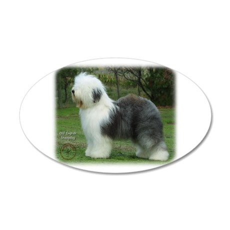 Old English Sheepdog 9F054D-18 38.5 x 24.5 Oval Wa