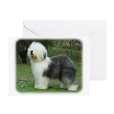 Old English Sheepdog 9F054D-08 Greeting Cards (Pk