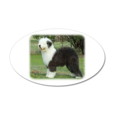 Old English Sheepdog 9F055D-17 22x14 Oval Wall Pee