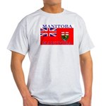 Manitoba Manitoban Flag Ash Grey T-Shirt