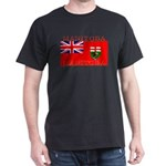Manitoba Manitoban Flag Black T-Shirt