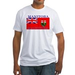 Manitoba Manitoban Flag Fitted T-Shirt