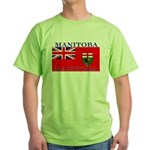 Manitoba Manitoban Flag Green T-Shirt