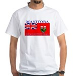 Manitoba Manitoban Flag White T-Shirt