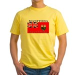Manitoba Manitoban Flag Yellow T-Shirt