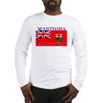 Manitoba Manitoban Flag Long Sleeve T-Shirt