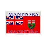 Manitoba Manitoban Flag Rectangle Magnet (10 pack)