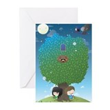 Vince noir Greeting Cards (Pk of 10)