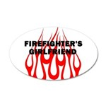 Firefighters Girlfriend 38.5 x 24.5 Oval Wall Peel