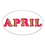 April Sticker (Oval)