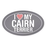 I Love My Cairn Terrier Oval Sticker/Decal