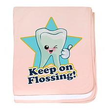 Dentist Dental Hygienist Teeth baby blanket