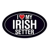 I Love My Irish Setter Oval Sticker/Decal