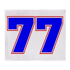 NUMBER 77 Throw Blanket