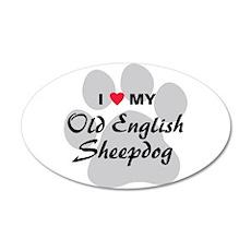 Love My Old English Sheepdog 38.5 x 24.5 Oval Wall