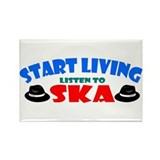 Start Living - Ska Rectangle Magnet (10 pack)