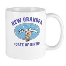 Personalized New Grandpa New Grandson Mug